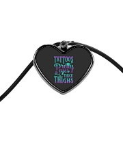 TATTOOS PRETTY EYES AND THICK THIGHS Cord Heart Necklace front