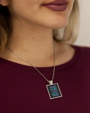 TATTOOS PRETTY EYES AND THICK THIGHS Metallic Rectangle Necklace aos-necklace-square-metallic-lifestyle-1