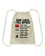 THE LIES I TELL MYSELF Drawstring Bag thumbnail