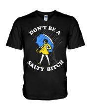 DON'T BE A SALTY BITCH V-Neck T-Shirt thumbnail