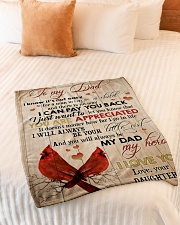 "To My Dad - Daughter  Small Fleece Blanket - 30"" x 40"" aos-coral-fleece-blanket-30x40-lifestyle-front-01"