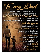 "To My Dad - Son Small Fleece Blanket - 30"" x 40"" front"