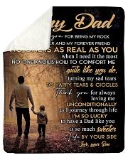 "To My Dad - Son Sherpa Fleece Blanket - 50"" x 60"" thumbnail"