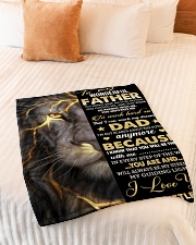 """To My Father Small Fleece Blanket - 30"""" x 40"""" aos-coral-fleece-blanket-30x40-lifestyle-front-01"""