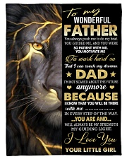 """To My Father Small Fleece Blanket - 30"""" x 40"""" front"""