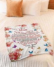 "To My Mom - Daughter Small Fleece Blanket - 30"" x 40"" aos-coral-fleece-blanket-30x40-lifestyle-front-01"