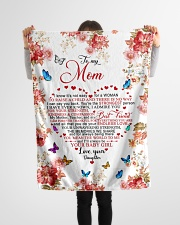 "To My Mom - Daughter Small Fleece Blanket - 30"" x 40"" aos-coral-fleece-blanket-30x40-lifestyle-front-14"