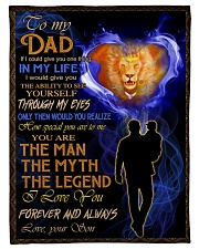 """To My Dad - Son Small Fleece Blanket - 30"""" x 40"""" front"""