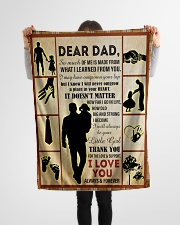 "To My Dad - Daughter  Small Fleece Blanket - 30"" x 40"" aos-coral-fleece-blanket-30x40-lifestyle-front-14"