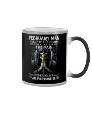 February Man  Color Changing Mug tile