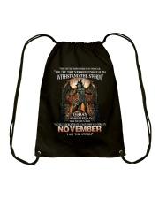November Men Drawstring Bag thumbnail