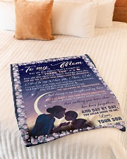 """To My Mom Small Fleece Blanket - 30"""" x 40"""" aos-coral-fleece-blanket-30x40-lifestyle-front-01"""