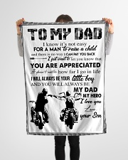 """To My Dad - Son Small Fleece Blanket - 30"""" x 40"""" aos-coral-fleece-blanket-30x40-lifestyle-front-14"""