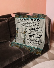 "To My Dad - Daughter Small Fleece Blanket - 30"" x 40"" aos-coral-fleece-blanket-30x40-lifestyle-front-05"