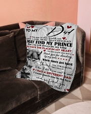"""To My Dad Small Fleece Blanket - 30"""" x 40"""" aos-coral-fleece-blanket-30x40-lifestyle-front-05"""