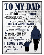 """To My Dad Small Fleece Blanket - 30"""" x 40"""" front"""