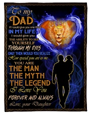 """To My Dad - Daughter  Small Fleece Blanket - 30"""" x 40"""" front"""