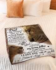 """To My Dad - Daughter Small Fleece Blanket - 30"""" x 40"""" aos-coral-fleece-blanket-30x40-lifestyle-front-01"""