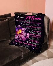 "Blanket To My Mom Small Fleece Blanket - 30"" x 40"" aos-coral-fleece-blanket-30x40-lifestyle-front-05"