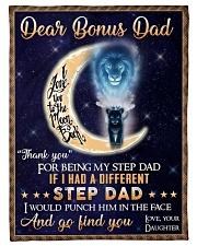 """To My Bonus Dad - Daughter Small Fleece Blanket - 30"""" x 40"""" front"""