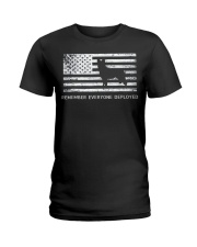 Red Friday Military Dog T Shirt Remember Everyone  Ladies T-Shirt thumbnail