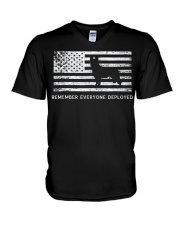 Red Friday Military Dog T Shirt Remember Everyone  V-Neck T-Shirt thumbnail