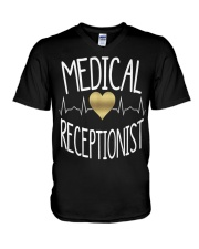 Medical Receptionist  V-Neck T-Shirt thumbnail
