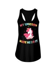 MY UNICORN MADE ME DO IT Ladies Flowy Tank front