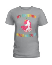 MY UNICORN MADE ME DO IT Ladies T-Shirt tile