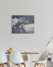 Irises flower painting 20x16 Gallery Wrapped Canvas Prints aos-canvas-pgw-20x16-lifestyle-front-05