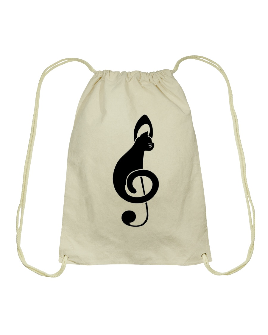 Cats music Drawstring Bag