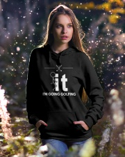 Funny Golfing Shirt - I'm Going Golfing Hooded Sweatshirt lifestyle-holiday-hoodie-front-5