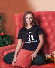 Funny Fishing Shirt - I'm Going Fishing Ladies T-Shirt lifestyle-holiday-womenscrewneck-front-2