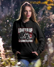 Trucker  Hooded Sweatshirt lifestyle-holiday-hoodie-front-5