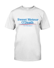 Sweet Meteor O'Death for President Premium Fit Mens Tee front