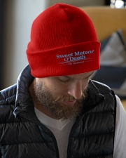 Sweet Meteor O'Death for President Knit Beanie garment-embroidery-beanie-lifestyle-06