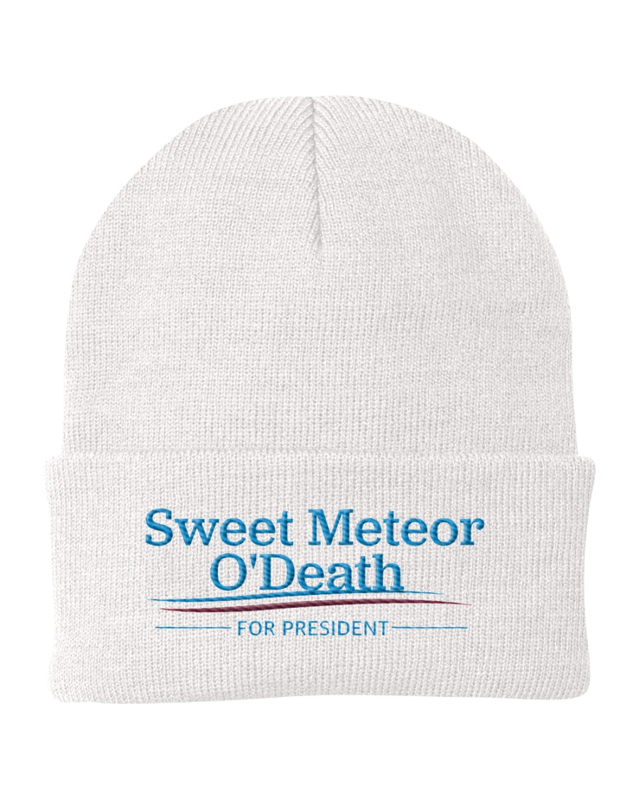 Sweet Meteor O'Death for President Knit Beanie