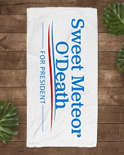 Sweet Meteor O'Death for President Beach Towel aos-towelbeach-vertical-front-lifestyle-1