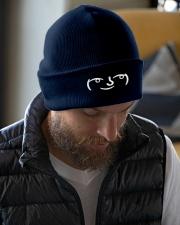 Lenny Face Knit Beanie garment-embroidery-beanie-lifestyle-06