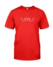 Shrugging Emoticon Classic T-Shirt front