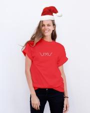 Shrugging Emoticon Classic T-Shirt lifestyle-holiday-crewneck-front-1