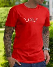 Shrugging Emoticon Classic T-Shirt lifestyle-mens-crewneck-front-7