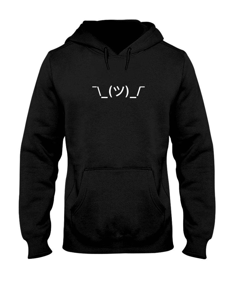 Shrugging Emoticon Hooded Sweatshirt