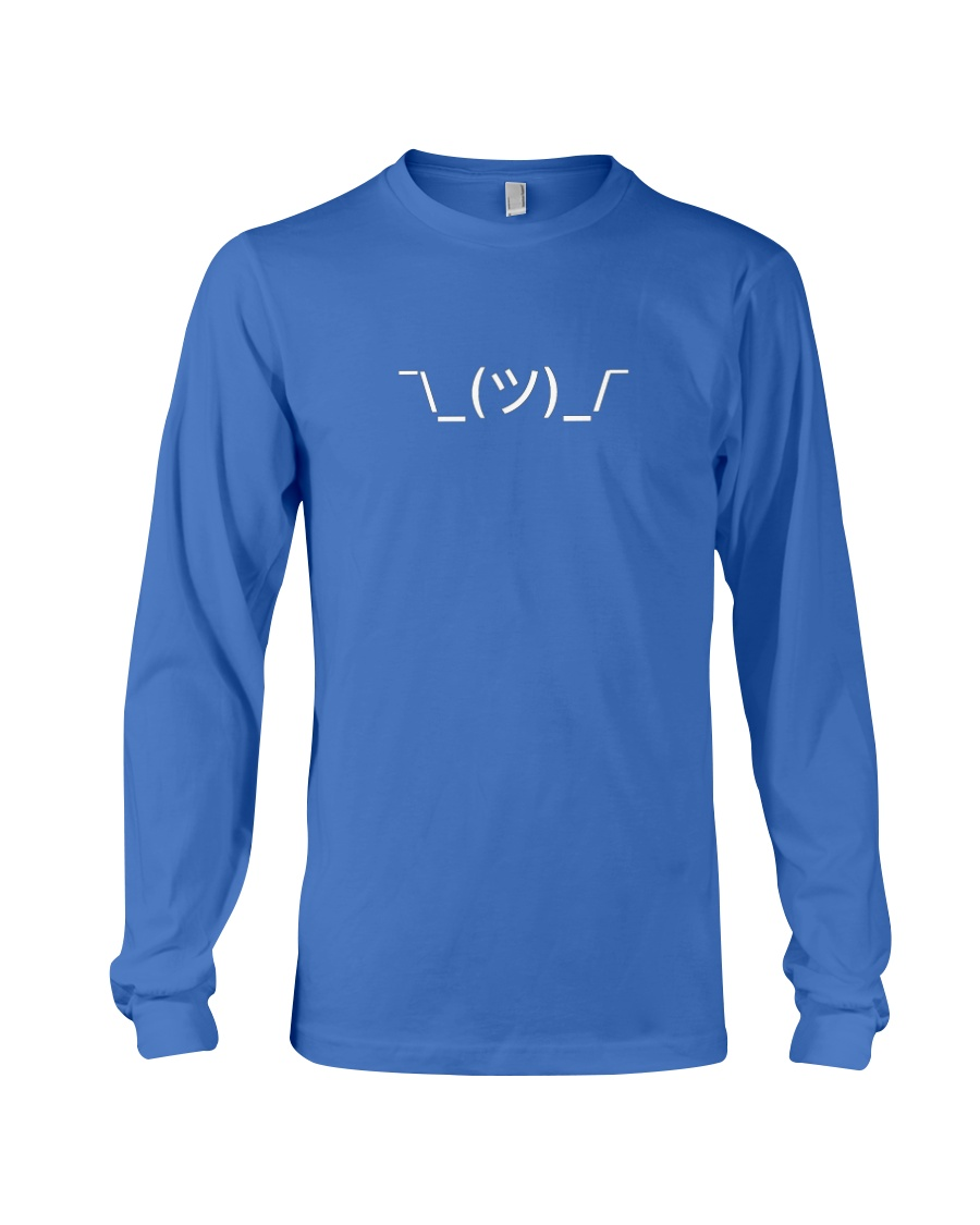 Shrugging Emoticon Long Sleeve Tee