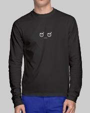Disapproving Emoticon Long Sleeve Tee lifestyle-unisex-longsleeve-front-1