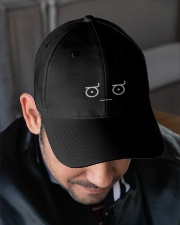 Disapproving Emoticon Embroidered Hat garment-embroidery-hat-lifestyle-02