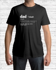 Dad Definition T-Shirt Classic T-Shirt lifestyle-mens-crewneck-front-1