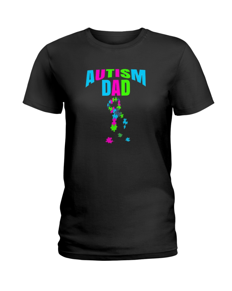 Autism Dad Awareness Ladies T-Shirt