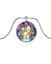Oddball Holiday Metallic Circle Necklace thumbnail