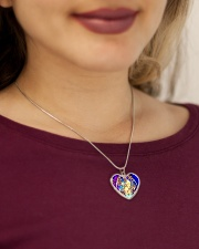 Oddball Holiday Metallic Heart Necklace aos-necklace-heart-metallic-lifestyle-1